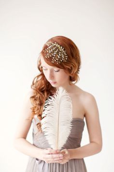 Crystal Fascinator | 47 Gorgeous Wedding Headpiece Ideas