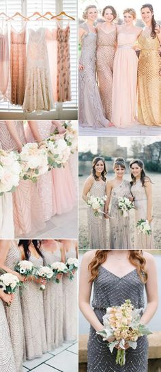 In recent years, tulle and sequined fabirc bridesmaid dresses seems to be a new trendy. It will spark your wedding when wearing the sequined dresses. And the tulle convertible bridesmaid dresses will make your big day. Wedding Bridesmaid Dresses, Wedding Party Dresses, Wedding Attire, Wedding 2017, Dream Wedding, Bridesmaid Inspiration, Wedding Inspiration, Style Inspiration, Bridesmaids And Groomsmen