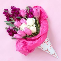 The best way to wrap a bouquet of blooms for Valentine's Day