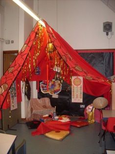 Here's a reading nook for Chinese New Year. #ChineseNewYear #CNY #decor