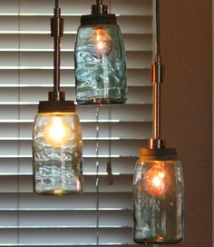 My mason jar light project. Cost: Less than $5
