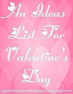 DIY Valentine's Day Idea List