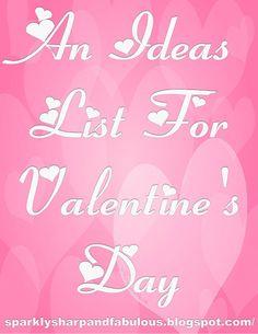 DIY Valentine's Day Idea List