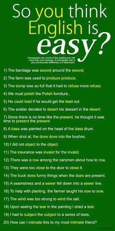 Same English words!