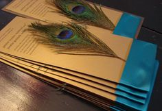 For Pretty, affordable and elegant Peacock Invitations « Weddingbee Classifieds
