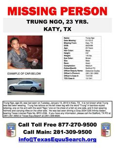 Missing Persons of America - Latest news and information: Trung Ngo: Missing Person Texas