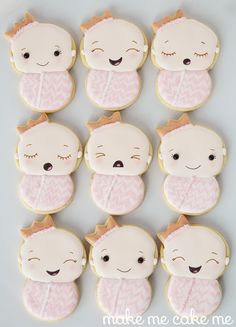 Little Princess Cookies for a Girlie Baby Shower Cookies | Make Me Cake Me