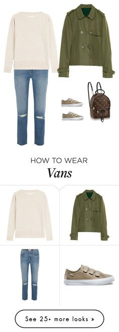 """""""Untitled #3928"""" by yuenchewwan on Polyvore featuring Frame, Zadig & Voltaire, Vans and Louis Vuitton"""