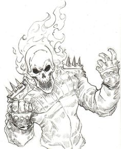 Cool Ghost Rider Coloring Pages - Сoloring Pages For All Ages