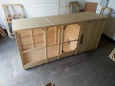 Large rabbit kennel with walk-in run