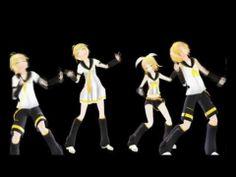 【Kagamine Rin, Len, Rinto, Lenka】 Poker Face【MMD】