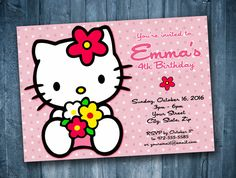 471 best razzle zazzle invitations images on pinterest in 2018 party invitations hello kitty birthday invitation a unique product by digiprints on dawanda filmwisefo