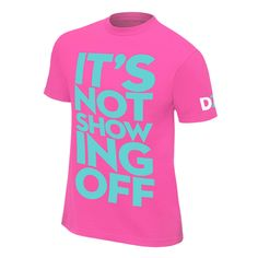 "Dolph Ziggler ""It's Not Showing Off"" Retro T-Shirt. WWE Wear - The Official Shirt of the WWE Superstars Classic Fit cotton Screen printed in the USA. Wwe T, Wwe Shirts, Men's Wrestling, Dolph Ziggler, Stone Cold Steve, Retro, Children, Tees, Mens Tops"