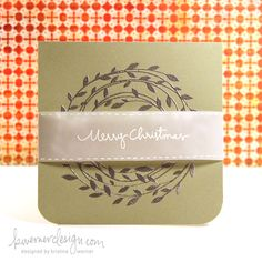 Embossed Card with Vellum