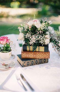 Books Wedding Centerpiece Idea