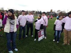 Patiently waiting for the walk to start! Breast Cancer Walk, Patiently Waiting, Walk On