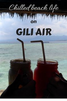 Gili Air is a must destination for every Bali traveler. This paradise island is perfect for relaxed beach life, snorkeling and diving. A tip for cheap accommodation on Gili Air on the blog! #giliair #bali #indonesia #travelguide