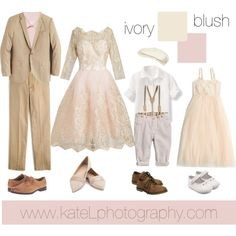 What clothes to wear for a spring family portrait session? Keep it light with cream, ivory and blush outfits