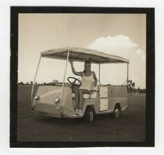 Vintage Photo Sexy Young Woman Golf Cart 1960's Feb19 D | eBay