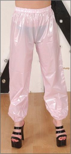 PVC Jogging Trousers - Plastic Bottoms - Shiny Trousers