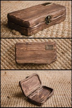 Diy wood projects - Cash wooden box is performed with a whole wooden pieces Free shape, brushing Nice to feel in your hands It is perfect as a gift and also as a stylish place for keeping the money gift Available wit Wooden Art, Wooden Crafts, Woodworking Plans, Woodworking Projects, Woodworking Basics, Woodworking Classes, Build Your Own Bar, Free Shapes, Small Wood Projects