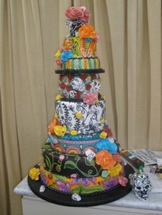 933 best Day of the Dead Wedding cakes and more images on Pinterest ...