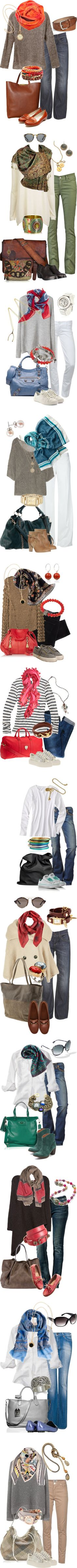 Beautiful Scarves by simple-wardrobe on Polyvore featuring мода, Vince, Leigh & Luca, Riccardo Forconi, CÉLINE, Rupert Sanderson, MOOD, H&M, Goldsign and Alexander Wang