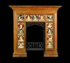 Minton Arts And Crafts Oak Fireplace Minton Tiles, Art Nouveau, Art Deco, Freelance Designer, Nymph, Will Smith, Elves, 19th Century, Original Art
