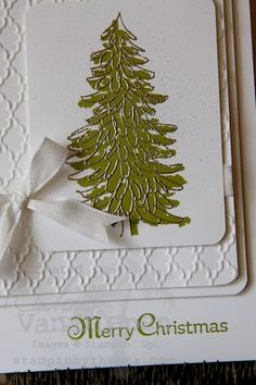 Evergreen, Stampin up, christmas cards