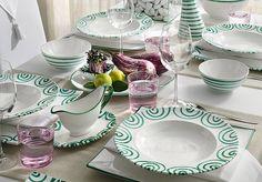 Výsledok vyhľadávania obrázkov pre dopyt exkluzívne keramické taniere Stags Leap, Swirls, Plates, Ceramics, Tableware, Place Settings, Tables, China, Sign