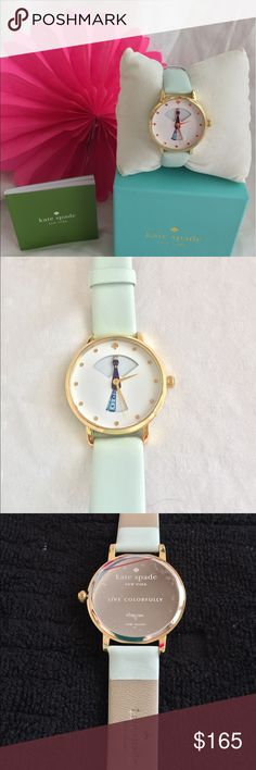 Kate Spade New York metro peacock watch Super cute NWT peacock watch with pastel mint leather strap. kate spade Accessories Watches