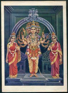 Can anyone identify the deities? Lord Ganesha Paintings, Lord Shiva Painting, Om Namah Shivaya, Hindu Deities, Hinduism, Lord Murugan Wallpapers, Lord Balaji, Spiritual Images, Lord Shiva Family