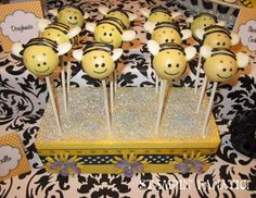 Lookin for cake pop stand ideas...A Stampin Fanatics Life: {It's FUN to BEE Two!} G's 2nd BEEday party!