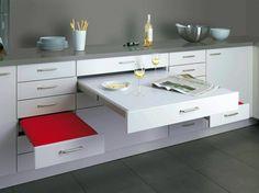 Cuisine confortable - amenagement petit espace