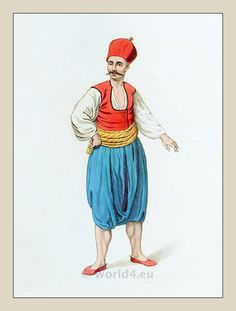 A Greek Sailor. Ottoman Empire costume. Regiment of the Janissaries