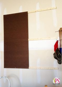 How to Hang Pegboard | Positively Splendid {Crafts, Sewing, Recipes and Home Decor}