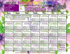 July's walking challenge