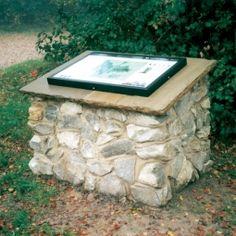 Bespoke Toys Hill Stone Lectern. #lectern #interpretation #heritageinterpretation #stonelectern