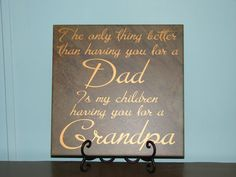 Dad Grandpa, Mom Grandma, Sister Aunt, Brother Uncle, Father's Day gift  Decorative Tile, with vinyl saying