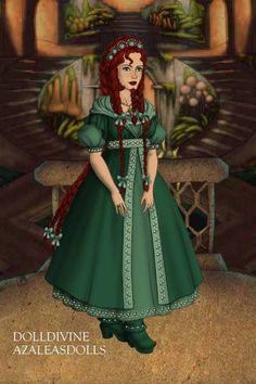 Mint Dwarf by lupinstargazer ~ High Fantasy Dress Up