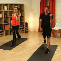 10-Minute Do-Anywhere Resistance Band Workout. I probably like the bow tie resistance band workout more but this is another option