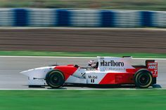 Nigel Mansell racing the Marlboro McLaren-Mercedes MP4/10 at Montmélo during the 1995 Spanish Grand Prix    it was to be his last Grand Prix, after 16 seasons & at the age of 41 he quit F1 for good