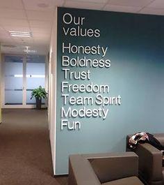 Bildresultat för amazing brand values walls Building Concept, Our Values, Best Brand, Office Decor, Core, Church Building, Wall Ideas, Amazing, Fun