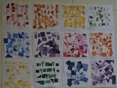 Simply cut paint samples into small shapes.