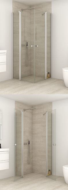 Hinged door with in-line panel lets you furnish close up to the enclosure itself. Perfect way to exploit limited space.