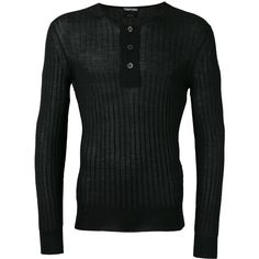 Tom Ford superfine long sleeved henley ($1,245) ❤ liked on Polyvore featuring men's fashion, men's clothing, men's shirts, men's casual shirts, black, mens straight hem shirts, tom ford mens shirts, mens henley shirts, mens long sleeve casual shirts and mens longsleeve shirts
