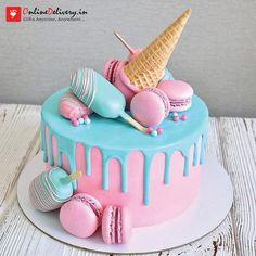 Vuelva a publicar - Torten - Pastel de Tortilla Candy Birthday Cakes, Ice Cream Birthday Cake, Homemade Birthday Cakes, Beautiful Birthday Cakes, Ice Cream Party, Art Birthday Cake, Little Girl Birthday Cakes, Unique Birthday Cakes, Birthday Cake For Brother