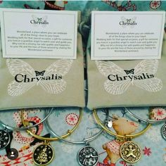 Choose the color of your #Chrysalis bangle bracelet and choose your charm!  These beautiful bracelets are available in our Pink Flame Wonderland collection our Naughty or Nice Prize tarts and our body butters!  http://ift.tt/1mLfunp