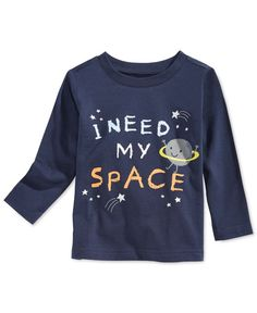 First Impressions Baby Boys' Long-Sleeve Space T-Shirt, Only at Macy's