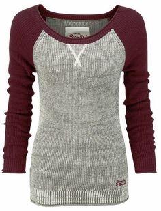 thermal baseball sweater shirt